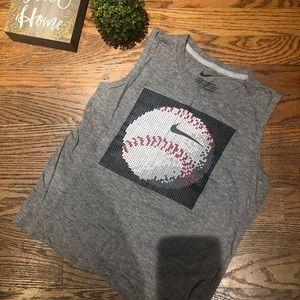 Nike boys sz 7 sleeveless baseball ⚾️ tank top